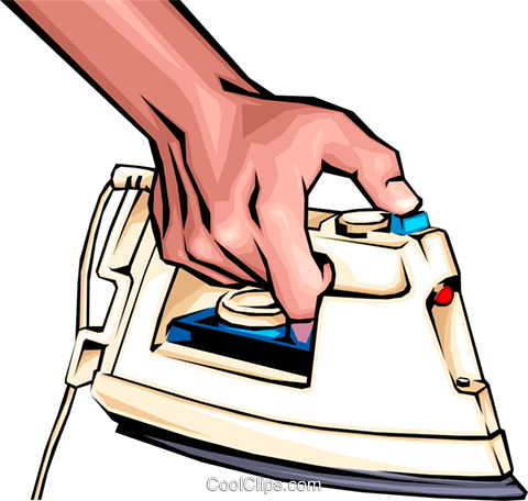 Hand ironing Royalty Free Vector Clip Art illustration hand0020