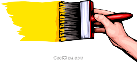 Hands painting Royalty Free Vector Clip Art illustration hand0027