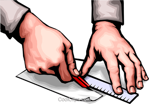 Hands cutting Royalty Free Vector Clip Art illustration hand0031