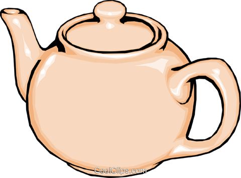 Teapot Royalty Free Vector Clip Art illustration hous0251
