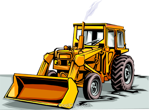 Front end loader Royalty Free Vector Clip Art illustration indu0030