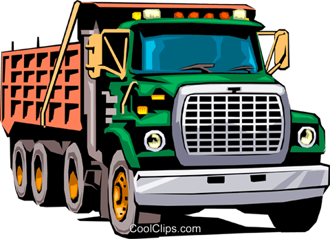 Dump truck Royalty Free Vector Clip Art illustration indu0032