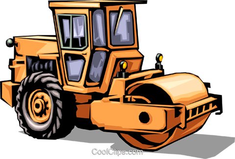 Steam roller Royalty Free Vector Clip Art illustration indu0036