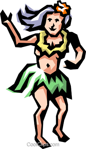 Hula dancer Royalty Free Vector Clip Art illustration peop1093