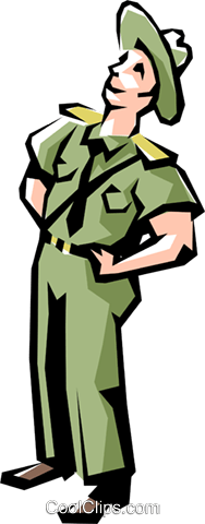 Park ranger Royalty Free Vector Clip Art illustration peop1095