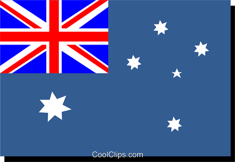 Australia flag Royalty Free Vector Clip Art illustration worl0218
