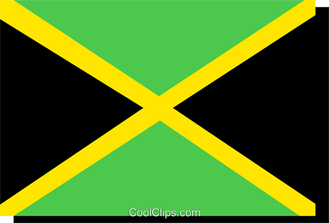 Jamaica flag Royalty Free Vector Clip Art illustration worl0227
