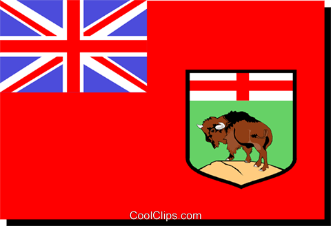 Flag of Manitoba Royalty Free Vector Clip Art illustration worl0229