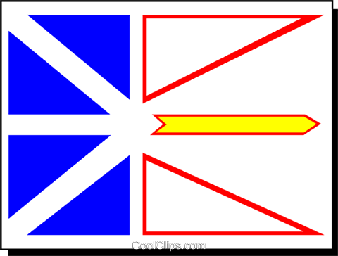 Flag of Newfoundland Royalty Free Vector Clip Art illustration worl0231