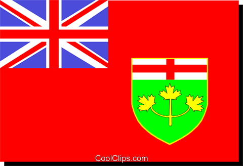 Flag of Ontario Royalty Free Vector Clip Art illustration worl0233