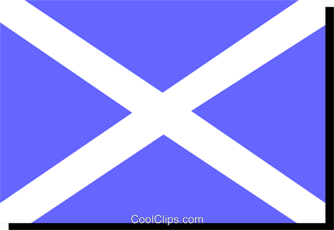 Scotland St. Andrew Cross flag Royalty Free Vector Clip Art illustration worl0239