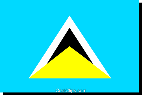 St. Lucia flag Royalty Free Vector Clip Art illustration worl0242