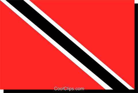 Trinidad and Tobago flag Royalty Free Vector Clip Art illustration worl0244