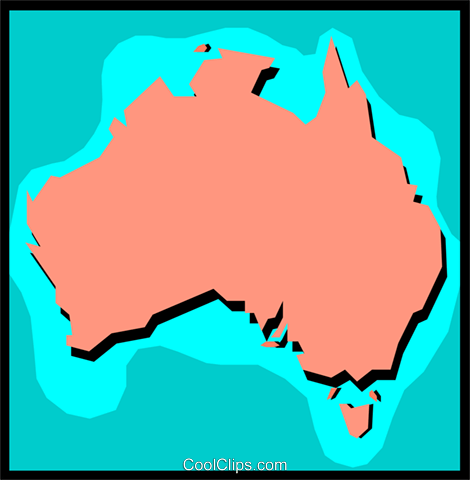 Australia Royalty Free Vector Clip Art illustration worl0329