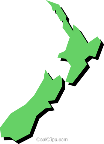 New Zealand Royalty Free Vector Clip Art illustration worl0389