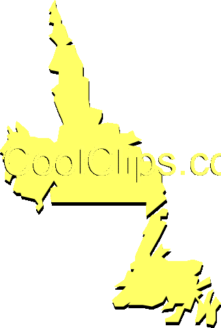 Newfoundland and Labrador Royalty Free Vector Clip Art illustration worl0390