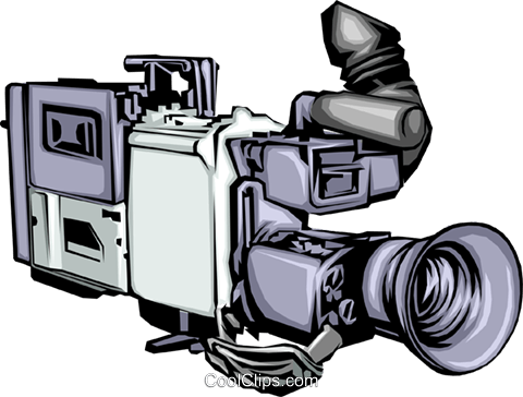 Video camera Royalty Free Vector Clip Art illustration arts0109