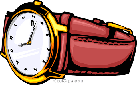 Wristwatch Royalty Free Vector Clip Art illustration busi0249