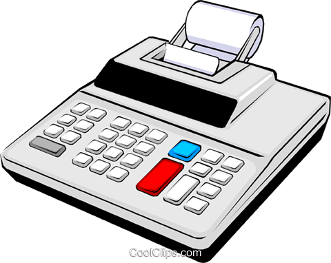 Adding machine Royalty Free Vector Clip Art illustration busi0252