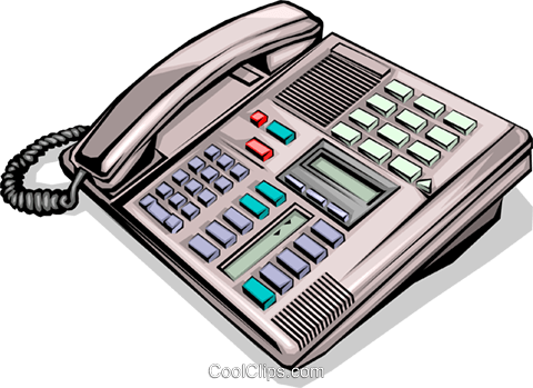 Office telephone Royalty Free Vector Clip Art illustration busi0255