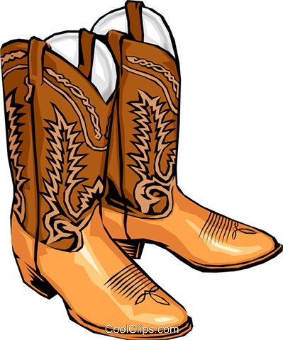 Cowboy boots Royalty Free Vector Clip Art illustration hous0253