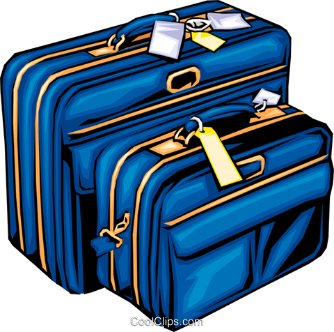 Luggage Royalty Free Vector Clip Art illustration hous0255