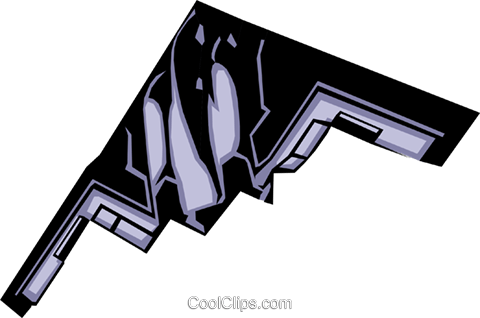Stealth bomber Royalty Free Vector Clip Art illustration mili0001