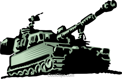 Military tank Royalty Free Vector Clip Art illustration mili0005