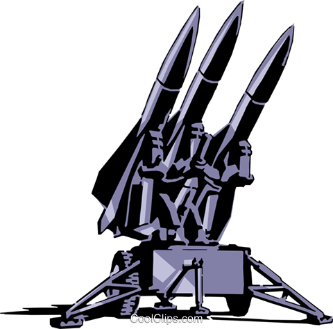 Rockets ready for launch Royalty Free Vector Clip Art illustration mili0006