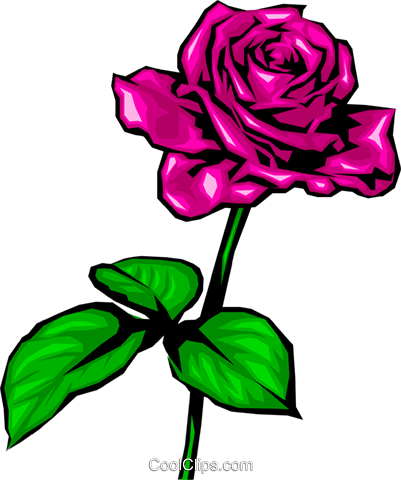 Red rose Royalty Free Vector Clip Art illustration natu0039