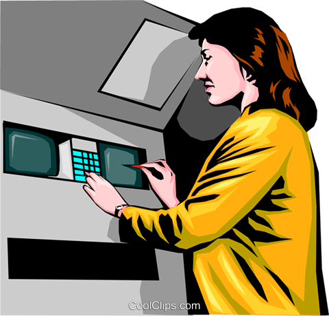 ATM machine Royalty Free Vector Clip Art illustration peop0036