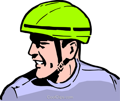 Bicycle safety Royalty Free Vector Clip Art illustration peop0044