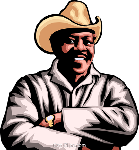 Afro-American Farmer Royalty Free Vector Clip Art illustration peop0053