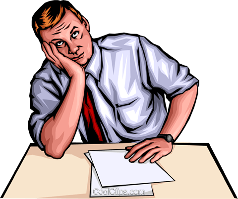 Frustrated man Royalty Free Vector Clip Art illustration peop0060