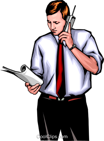 Man with telephone Royalty Free Vector Clip Art illustration peop0063