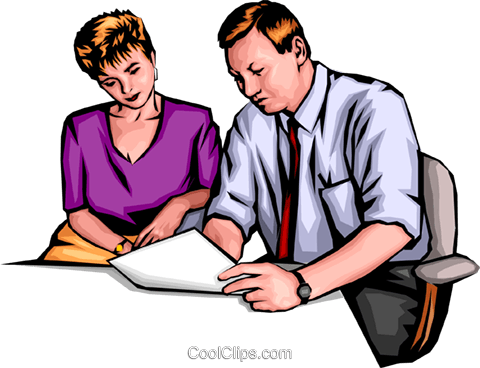 Man & woman working Royalty Free Vector Clip Art illustration peop0066