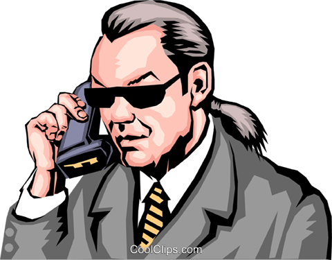 Man on phone Royalty Free Vector Clip Art illustration peop0069