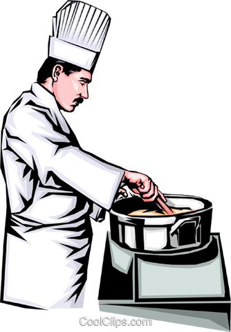 Chef Royalty Free Vector Clip Art illustration peop0072