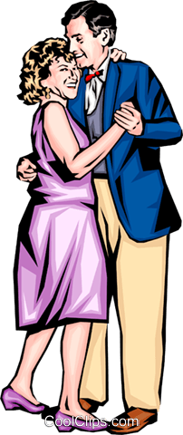 Man & woman dancing Royalty Free Vector Clip Art illustration peop0088