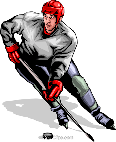 Hockey player Royalty Free Vector Clip Art illustration peop0127