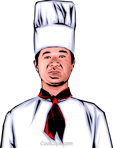 Japanese chef Royalty Free Vector Clip Art illustration peop0136