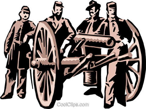 Civil war soldiers Royalty Free Vector Clip Art illustration peop1252