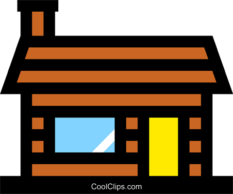 Log house Royalty Free Vector Clip Art illustration arch0174