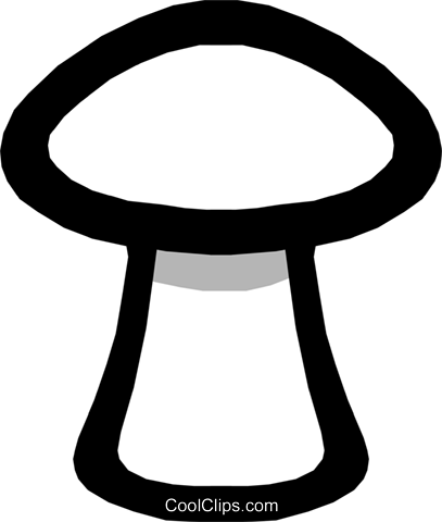 Mushroom symbol Royalty Free Vector Clip Art illustration food0353