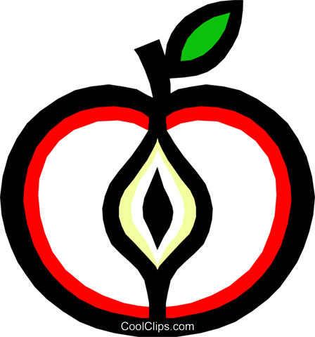 Apple Royalty Free Vector Clip Art illustration food0374