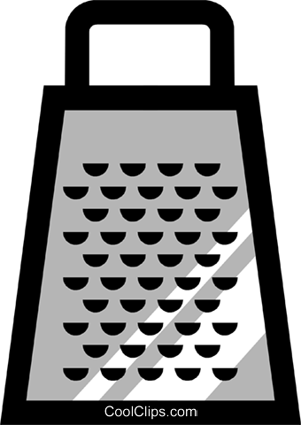 Food grater Royalty Free Vector Clip Art illustration hous0269