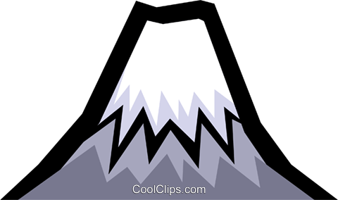 Mount Fuji Royalty Free Vector Clip Art illustration natu0185