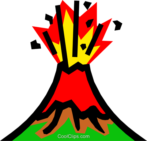 Volcanoes Royalty Free Vector Clip Art illustration natu0191