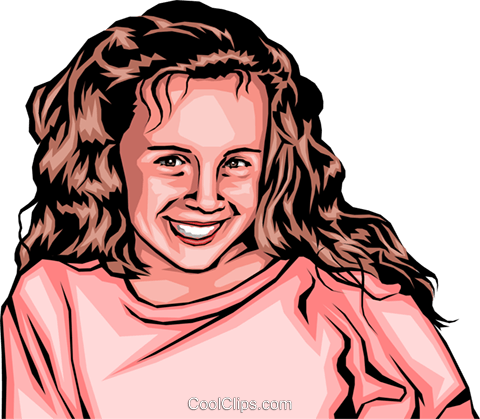 Little girl Royalty Free Vector Clip Art illustration peop0149