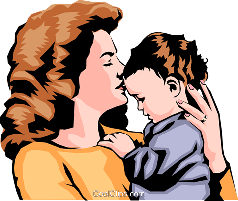 Mother with child Royalty Free Vector Clip Art illustration peop0171